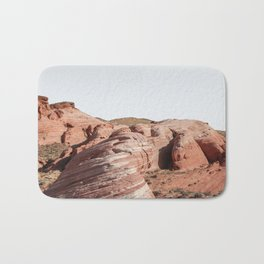 Colorful Waves In Valley Of Fire State Park, Nevada Art Print | Travel Photography Bath Mat
