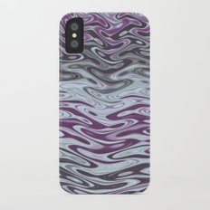 Ripples Fractal in Muted Plums iPhone X Slim Case