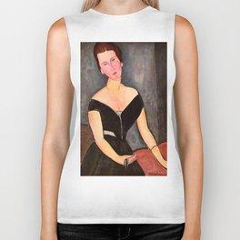 """Amedeo Modigliani """"Portrait of Madame Georges Van Muyden.jpg Biker Tank"""