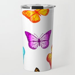 Colorful butterflies Travel Mug