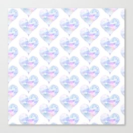Watercolored hearts Canvas Print