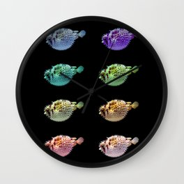 Pop Pufferfish Wall Clock
