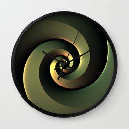 Dark Spiral Wall Clock