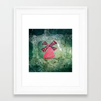 moulin rouge Framed Art Prints featuring Moulin by Camile O'Briant