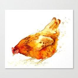 Chickens 2012: Miss Red Hen II Canvas Print