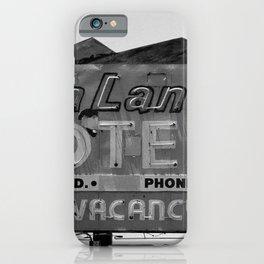 Vintage Neon Sign In Tucson - Sun Land Motel iPhone Case
