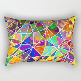 Retro Rings Rectangular Pillow