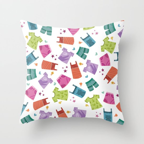 HER CLOTHES Throw Pillow