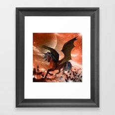 Dark unicorn  Framed Art Print