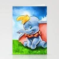 dumbo Stationery Cards featuring Dumbo by DisPrints