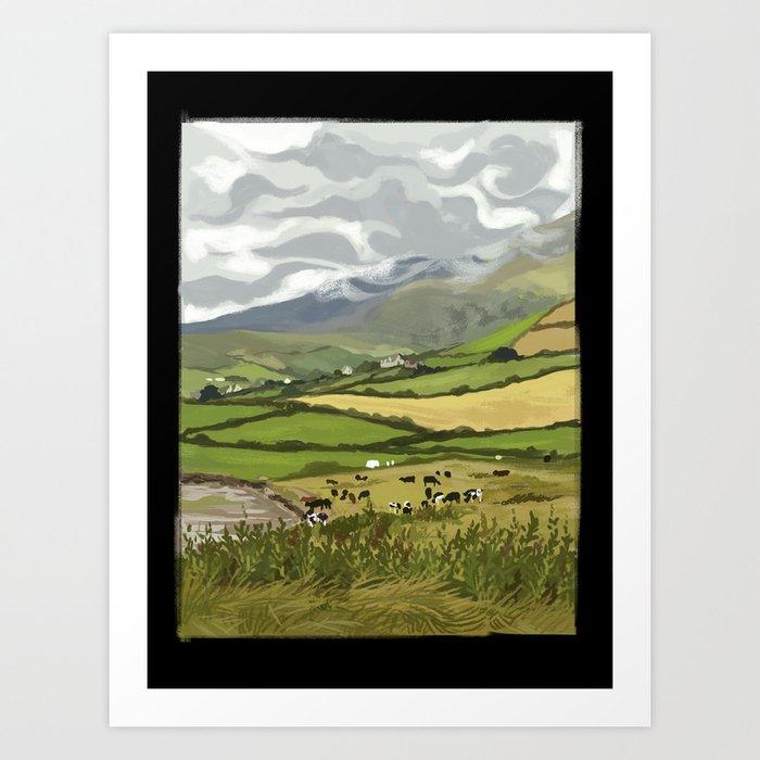 Cows in Dingle, Ireland Art Print
