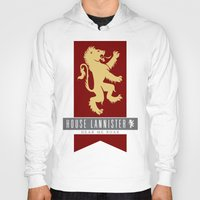 lannister Hoodies featuring House Lannister Sigil by P3RF3KT