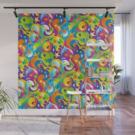 Dolphins, Seals and Sea Life in Tropical Ocean Waves Wall Mural