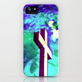 Holy Cross Purple & Green iPhone Case