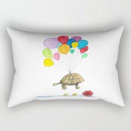 Mr Tortoise with Balloons Rectangular Pillow