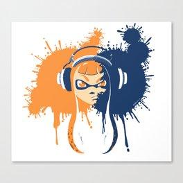Splatoon: Squid Girl Splash Jam Canvas Print