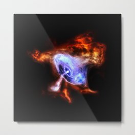 Crab Nebula's X-ray Pulsar via Chandra Metal Print