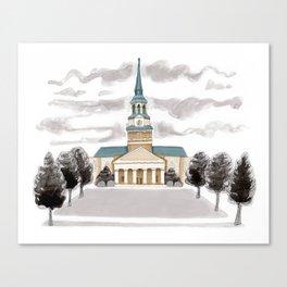 Wakeforest Illustration Canvas Print