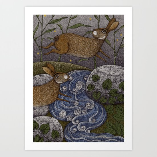 Swamp Rabbit's Reedy River Race Art Print
