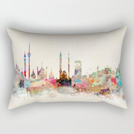 delhi city skyline Rectangular Pillow