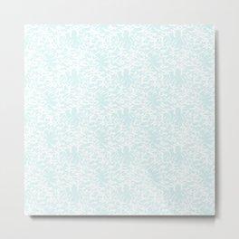 White leaves - Fabric pattern Metal Print