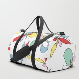 Draw me floral Duffle Bag