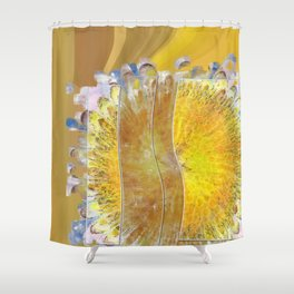 Grumes Content Flowers  ID:16165-071903-89521 Shower Curtain