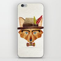mr fox iPhone & iPod Skins featuring mr. fox by Manoou