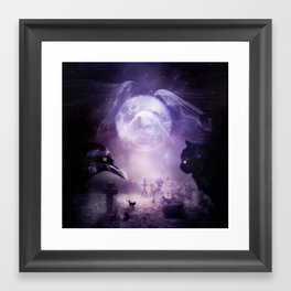 In The Glow of Darkness We Wait Framed Art Print