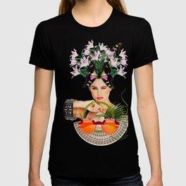 Orange Sunglasses by Lenka Laskoradova T-shirt