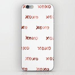 XOXO Fashion Love Rose Gold Pattern iPhone Skin
