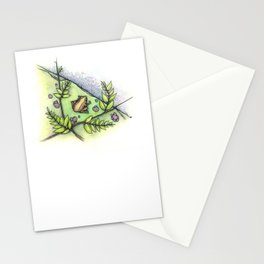 frog by the water Stationery Cards