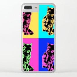 Cat Pop Clear iPhone Case