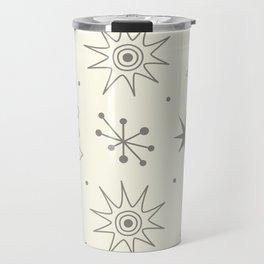 Cute vintage mid century hand drawn illustration pattern with stars Travel Mug