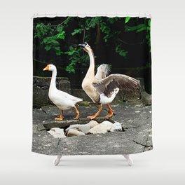 Cute Geese Shower Curtain