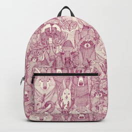 canadian animals cherry pearl Backpack