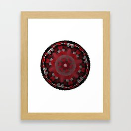 Red Kaleidoscope Mandala Framed Art Print