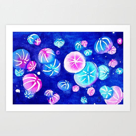 Comb Jelly Cluster Art Print