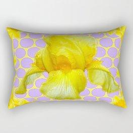 ABSTRACT YELLOW SPRING IRIS GOLDEN DAFFODILS FRAME Rectangular Pillow