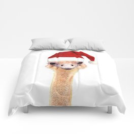 Ostrich Christmas Comforters