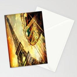 pariS. : Eiffel Tower & Ferris Wheel Stationery Cards