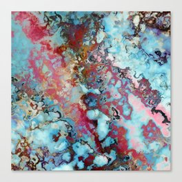 Colorful abstract marble II Canvas Print