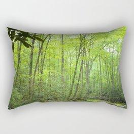 Spring Forest Stream Rectangular Pillow