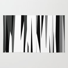Black White and Gray Abstract 2 Rug
