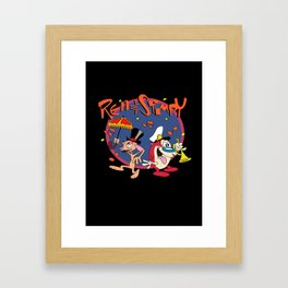 Ren & Stimpy disco Framed Art Print