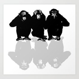 3 Monkeys Art Print