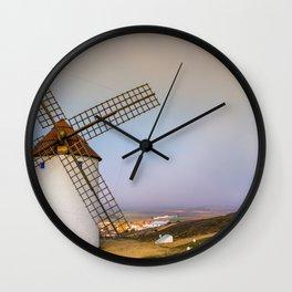 Molinos de Mota del Cuervo Wall Clock