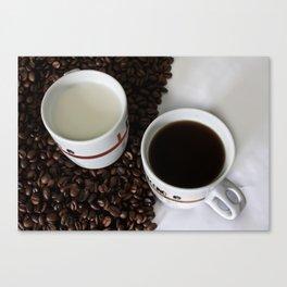 Coffee Yin Yan Canvas Print