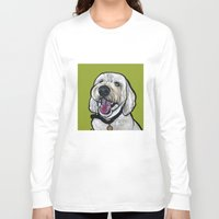 kermit Long Sleeve T-shirts featuring Kermit the labradoodle by Pawblo Picasso