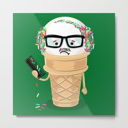 Ice Cream Coneover (Holiday Edition) Metal Print